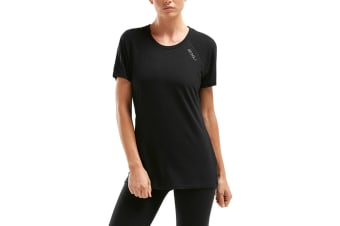 2XU Women's HEAT Short Sleeve Run Tee (Black)