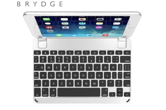 BrydgeMini Bluetooth 3.0/Lightweight Keyboard for Apple iPad Mini 1/2/3 Silver