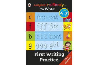 First Writing Practice - Ladybird I'm Ready to Write Sticker Activity Book