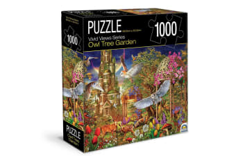1000pc Crown Vivid Views Series Owl Tree Garden 68.6cm Jigsaw Puzzle Toy 15y+