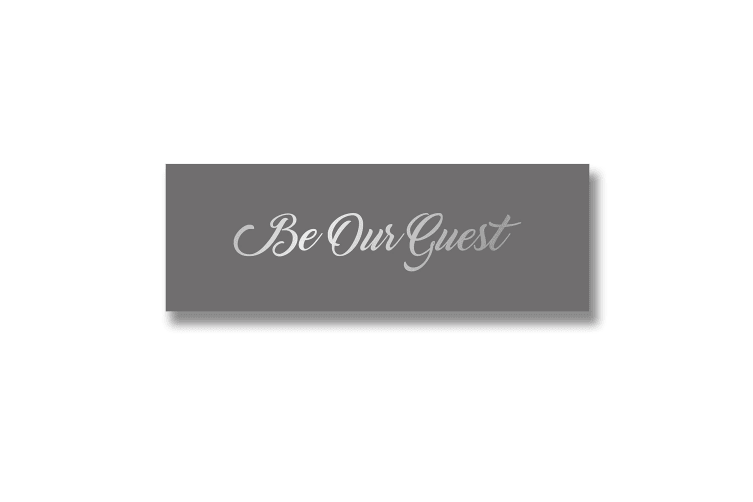 Hill Interiors 'Be Our Guest' Silver Foil Plaque (Silver) (One Size)