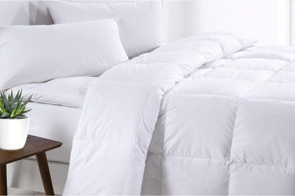 Goose 500GSM Quilt with Goose Pillow Twin Pack (Single)