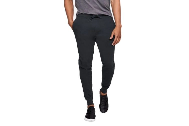Under Armour Men's Threadborne Terry Joggers (Black, Size Extra Large)