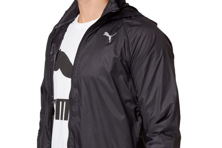 Puma Men's Lightweight Hooded Jacket (Black, Size L)