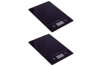 2PK Acurite Slim Line Glass 5kg Digital Kitchen Food Nutrition Scale Weight BLK