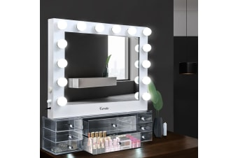 Hollywood Makeup Mirror With Light jewellery cabinet LED Bulbs