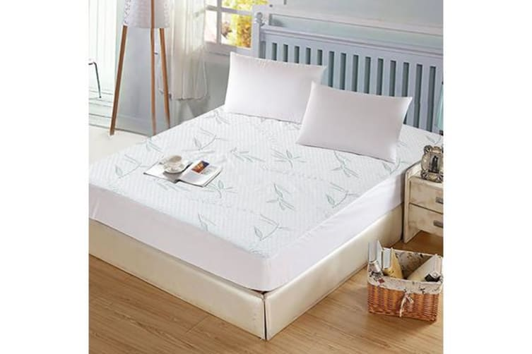 Waterproof Bamboo Fully Fitted Mattress Protector King Single