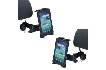 "2X 360° Rotating Universal Headrest Tablet Car Mount Holder 4.3-11.6"" Twin Pack"