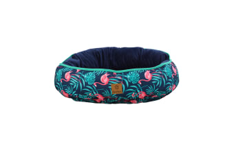 Pet Reversible Oval Pad - Pink Flamingoes S-45 x 56 x 15cm