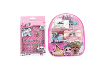 LOL Surprise Kids Children Jewellery Set & Hair Accessories Backpack Rings/Clips