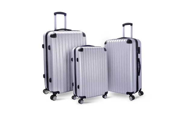 Milano Slimline 3 piece Luggage Set (Silver)