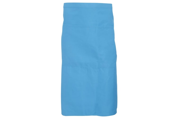 Dennys Adults Unisex Catering Waist Apron With Pocket (Mid Blue) (One Size)
