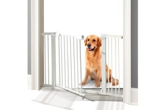 76cm Tall Baby/Pet Safety Gate Door Barrier Adjustable Width  - White