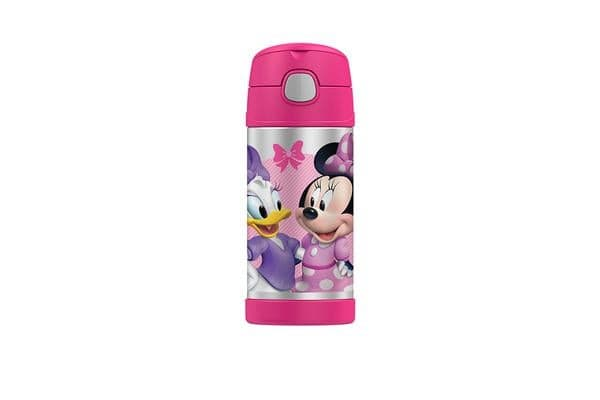 Thermos Funtainer S/S Vacuum Insulated Drink Bottle 355ml Disney Minnie Mouse