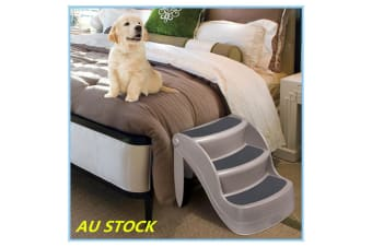 Nonslip Foldable Pet Step Portable Steps Dog Cat Doggy Pet Stairs Ramp Ladder