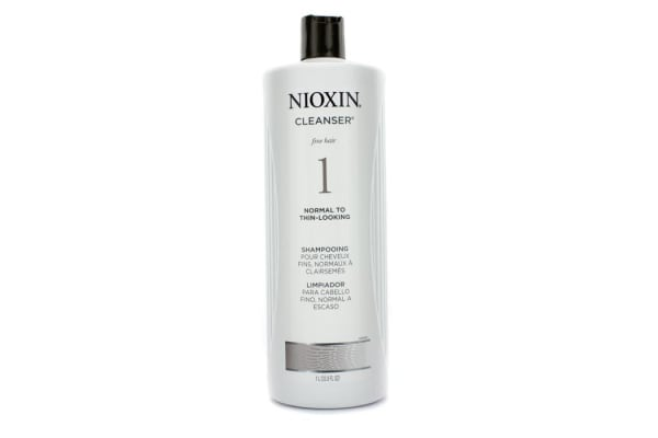 Nioxin System 1 Cleanser For Fine Hair, Normal to Thin-Looking Hair (1000ml/33.8oz)