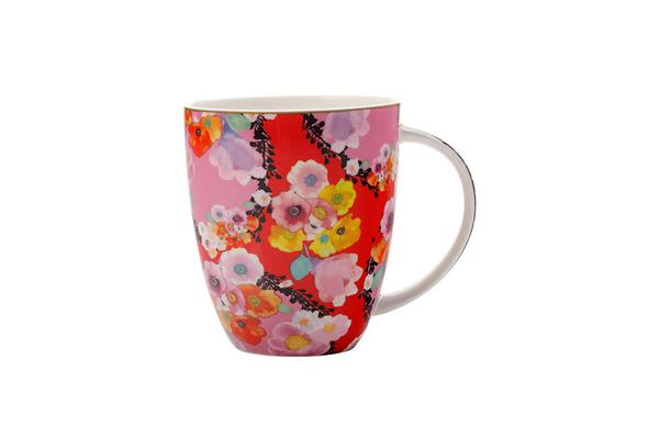 Maxwell & Williams Cashmere Bloems Coupe Mug 400ml Red
