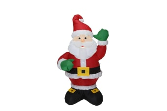 New 1.3m Inflatable Santa LED Christmas Lights Outdoor Airpower Xmas Decor