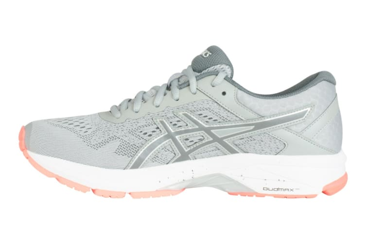 ASICS Women's GT-1000 6 Running Shoe (Mid Grey/Carbon/Flash Coral, Size 6)