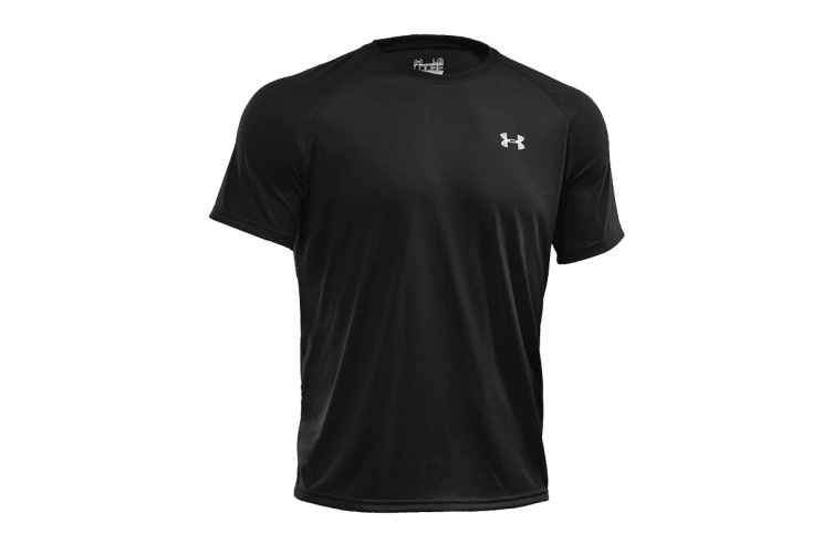 Under Armour Men's UA Tech T-Shirt (Asphalt/White, Size S)