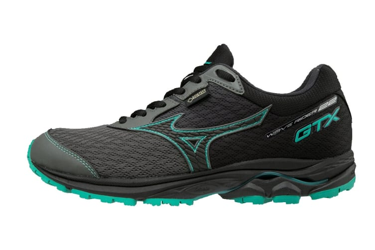 Mizuno Women's WAVE RIDER 22 GTX Running Shoe (Gunmetal/Black/Billard, Size 9 US)