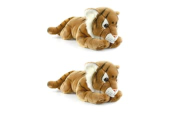 2PK Korimco 76cm Kids/Children Large Tiger Plush Soft Animal Stuffed Toy Gold