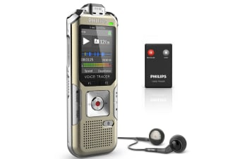 Philips DVT6500 4GB Hi-fi 3 Mic Digital Audio Music recorder Stereo Voice Tracer