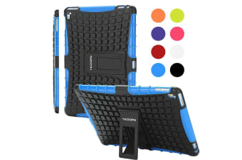 Kids Shockproof Case Heavy Duty Tough Kick Stand Cover For iPad Air 2-Type2-BlueBlack