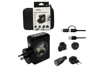 Nat Geo World 4.1A USB Travel Charger Kit Plug