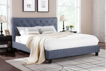 Shangri-La Bed Frame - Sorrento Collection (Pewter Grey)