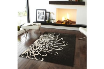 Splash Design Rug Charcoal