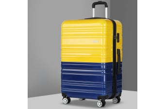 Luggage Sets Suitcase TSA Travel Hard Case Lightweight PC Yellow