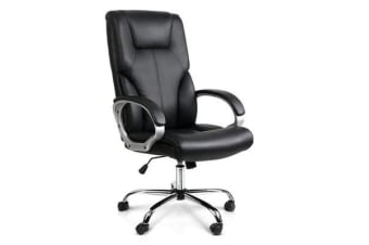 PU Leather Office Chair (Black)