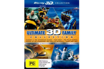 Ultimate 3D Family Collection (Journey 2 / Yogi Bear (2010) / The Polar Express / Legend of the Guardians / Happy Feet Two) (3D Blu-ray)