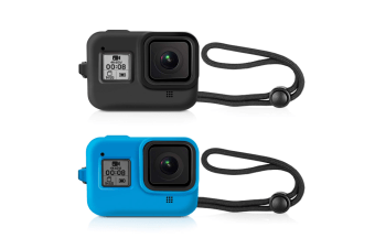Protective Silicone Sleeve Cases + Lanyard for GoPro Hero 8 Black