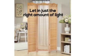 Shutter Style Wooden Foldable Room Divider 3 Panel