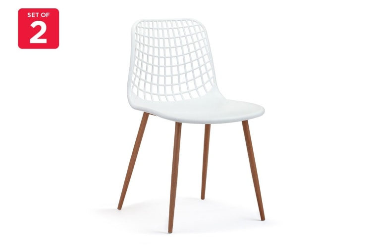 Ovela Set of 2 Leerdam Dining Chairs (White)