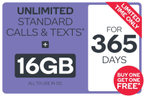 Kogan Mobile Prepaid Voucher Code: LARGE (365 Days | 16GB) - Buy One Get One Free