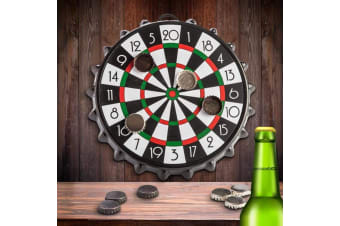 Magnetic Bottle Cap Dart Board | Drink - Throw - Win!