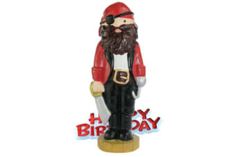 Creative Pirate Design Birthday Party Cake Topper (Red/Black/White) (One Size)