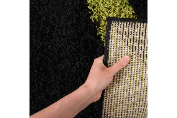 Urban Curves Rug Black Green 290x200cm