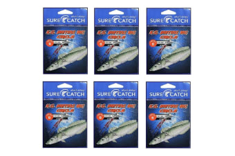 6 Pack of Surecatch King George Whiting Rigs with Chemically Sharp Circle Hooks [Hook Size: 4]