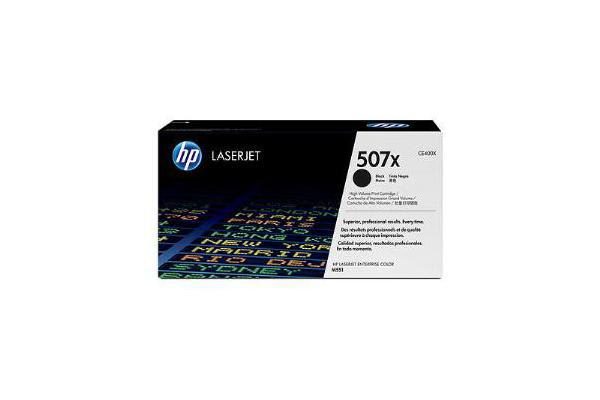 HP 507X BLACK HIGH YIELD LASERJET TONER CARTRIDGE CE400X
