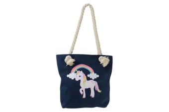 Little Rider Childrens/Kids Unicorn Tote Bag (Navy)