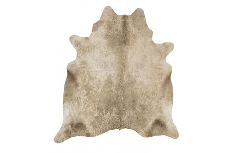 Exquisite Natural Cow Hide Champagne 170x180cm