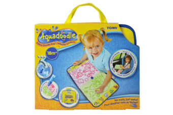 Tomy Aquadoodle Travel Bag/No Mess Mat/Water Drawing Art Pad/Kids/Children/Play