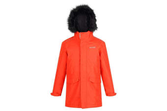 Regatta Childrens/Kids Perry Fur Trimmed Waterproof Jacket (Rusty Orange) (14 Years)