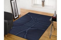 Urban Loops Rug Navy Blue