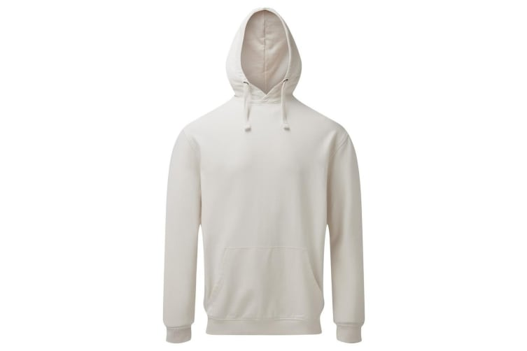 Asquith & Fox Mens Coastal Vintage Wash Loop Back Hoodie (Vintage White) (XXL)