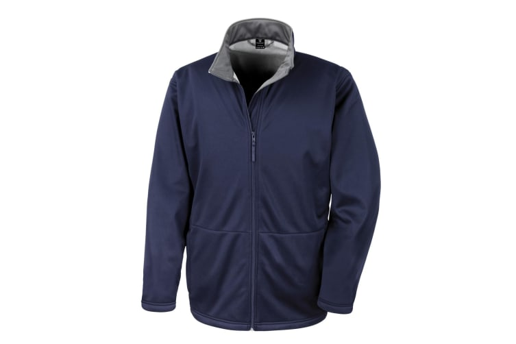Result Core Mens Soft Shell 3 Layer Waterproof Jacket (Navy Blue) (S)
